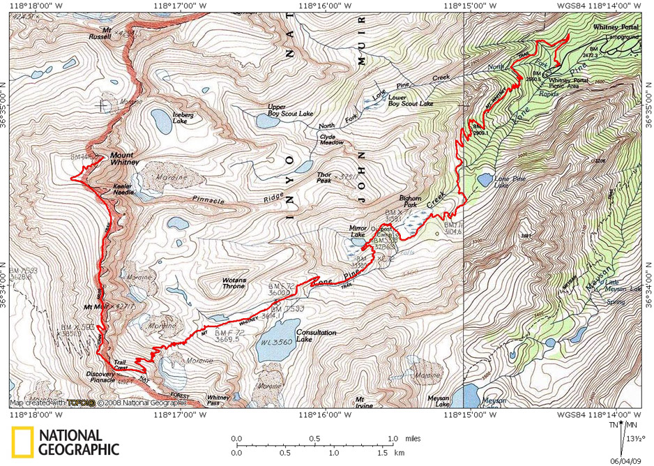 Where Is Mount Whitney On The California Map.Mt Whitney Trail Hiking And Backpacking Timberline Trails