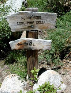 North Fork Trail Sign