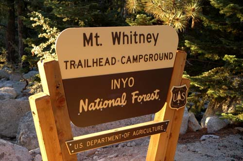 Whitney Portal Sign