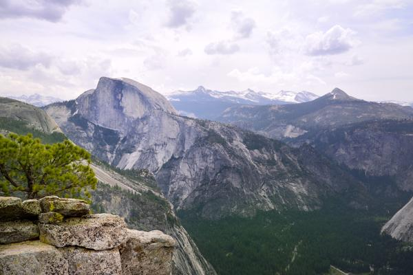 View of Half Dome from Yosemite Point