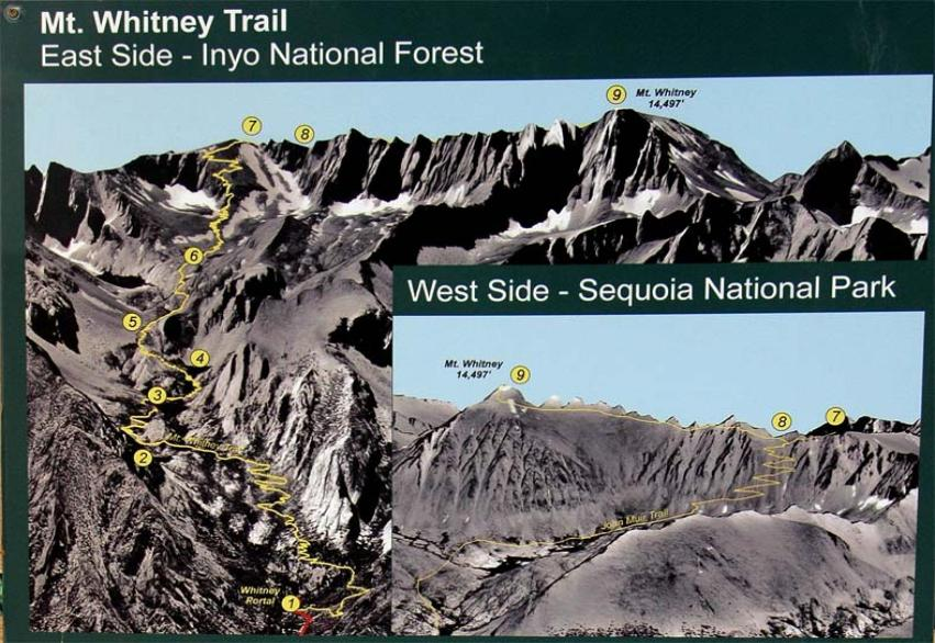 Mt Whitney Map
